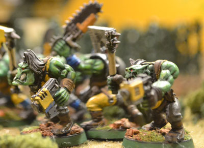 Orcs advance on the Imperial line.