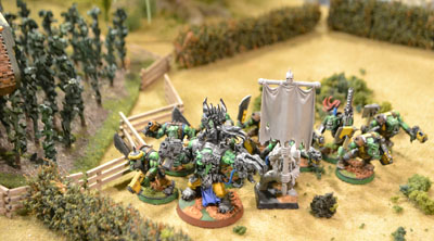 In an unorky strategy, the orks use a cornfield to shield their cornfield.