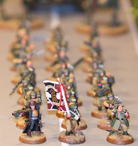 Cadians marching