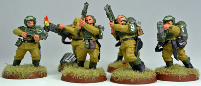 A part of my assault team with shotguns and flame throwers.