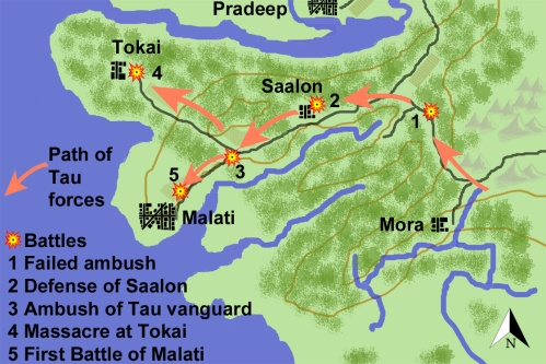 Map of Battle of Malati