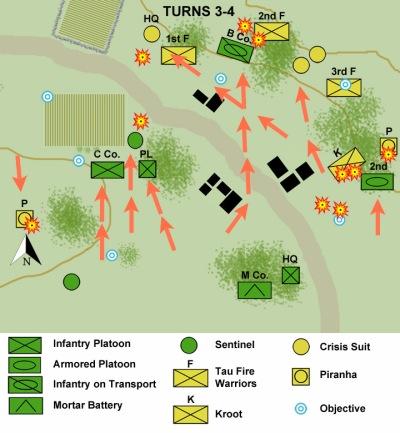 First Battle of Malati map turns 3-4