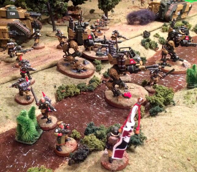 Warhammer 40K blog Imperial Guard advance