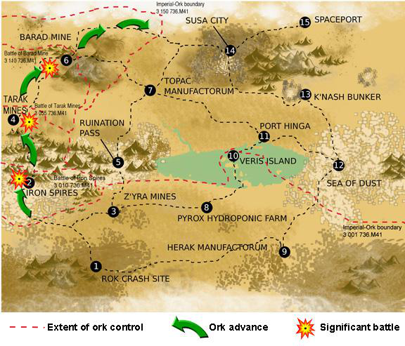 Panic across Hegira: Is the world lost to orks? – THE ... Hegira Map